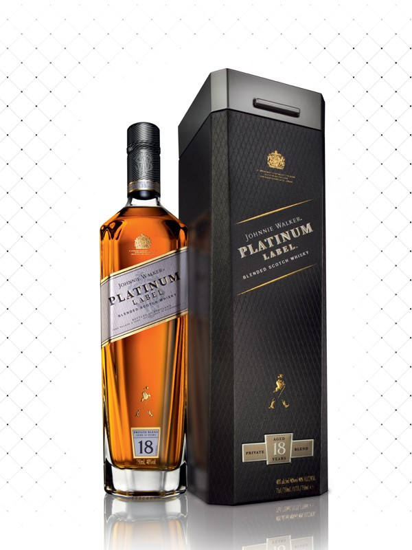 WHISKY J. W. PLATINUM LABEL 18 YEARS 750ML